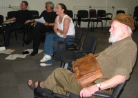 Claire and Monte with group at seXshunned rehearsal