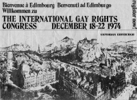 International Gay Rights Congress Edinburgh 1974