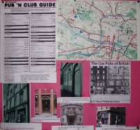 Map of Gay Pubs in Glasgow from 1970s